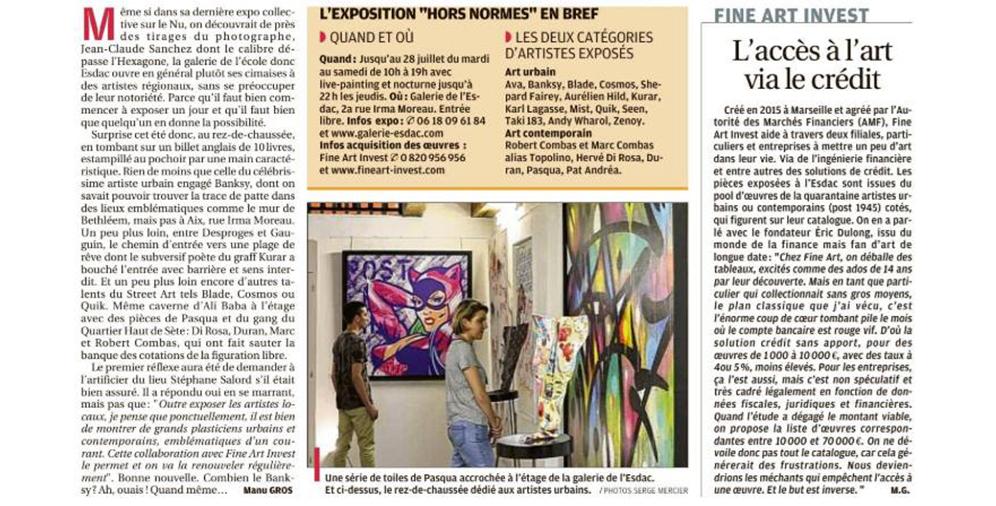 Dok à la galerie ESDAC Aix-en-Provence