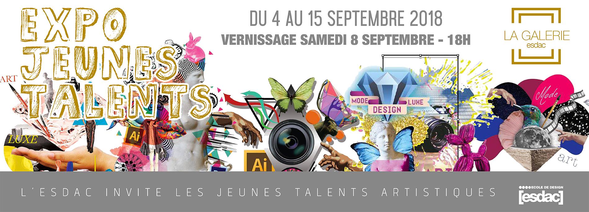 Expo jeunes talents à la galerie d'art ESDAC Aix-en-provence