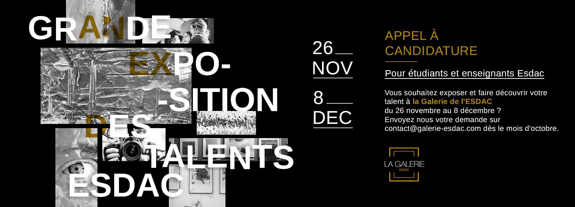Grande exposition des talents galerie d'art ESDAC Aix