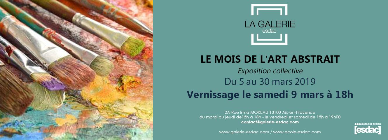 Exposition mois de l'art abstrait à la galerie ESDAC Aix-en-Provence