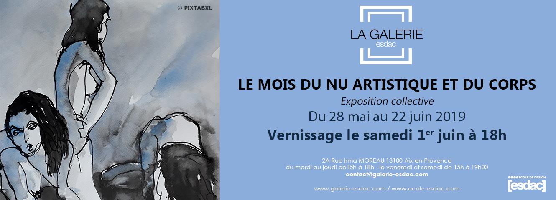 Le mois du Nu artistique et du corps à la galerie d'art esdac d'aix-en-en-provence