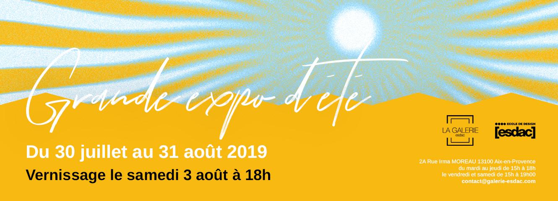 Grande exposition d'été à la galerie d'art ESDAC Aix-en-Provence