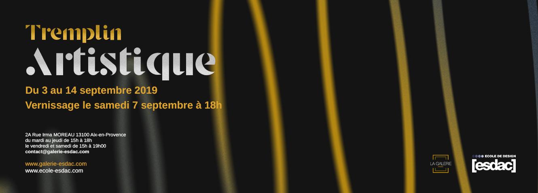Tremplin artistique galerie d'art ESDAC Aix-en-Provence