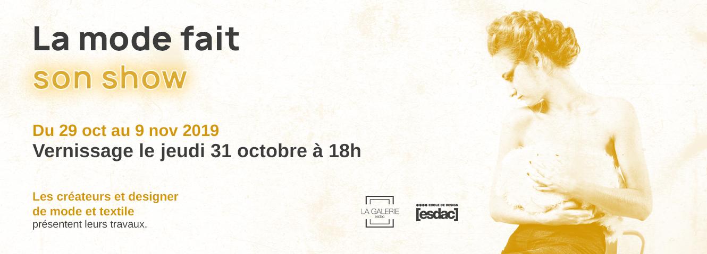 La mode fait son show à la galerie de l'école de design ESDAC Aix-en-Provence