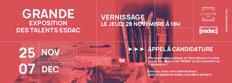 Grande exposition des talents ESDAC 2019 de la galerie d'art Aix-en-Provence